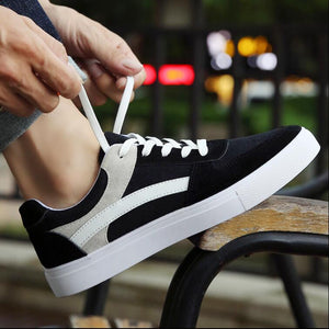 New spring autumn hot sale fashion shose Men's shoes breathable men's canvas shoes solid students casual round-toe lace-up shoes