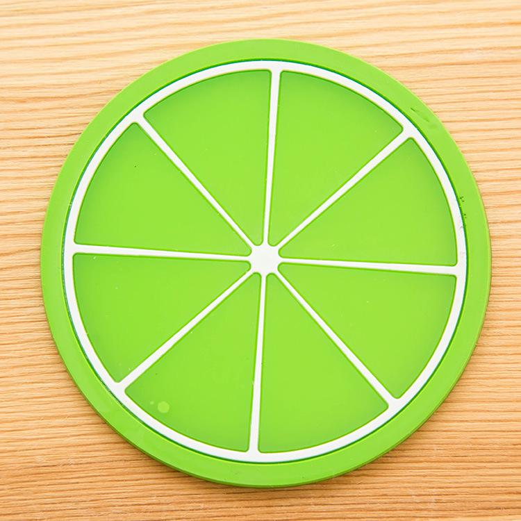 Non-slip Fruit Placemat Cup Mat Pads Coffee Mug Drink Coasters Dining Table Placemats Desk Accessories