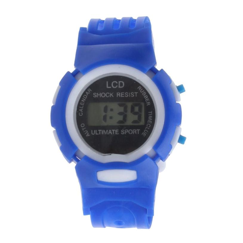 Novel Design Boys Girls Student Time Sport Electronic Digital LCD Wrist Watch free shipping jy14 Dropshipping