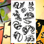 Nu-TATY Cobra Snake Totem Temporary Tattoo Body Art Flash Tattoo Stickers 17*10cm Waterproof Fake Tatoo Car Styling Wall Sticker