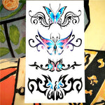Nu-TATY Poetic Flying Butterfly Temporary Tattoo Body Art Arm Flash Tattoo Stickers 17*10cm Waterproof Fake Henna Painless Tatto
