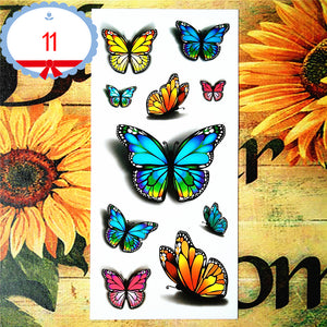 Nu-TATY Sexy Butterfly 3d Temporary Flash Tattoo Body Art Back Sticker 1 sheet 19*9cm For Selfie EN71 High Quality Tatoo