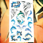 Nu-TATY Sexy Hot Lips Temporary Tattoo Body Art Arm Flash Tattoo Stickers 17*10cm Waterproof Fake Henna Painless Tattoo Sticker