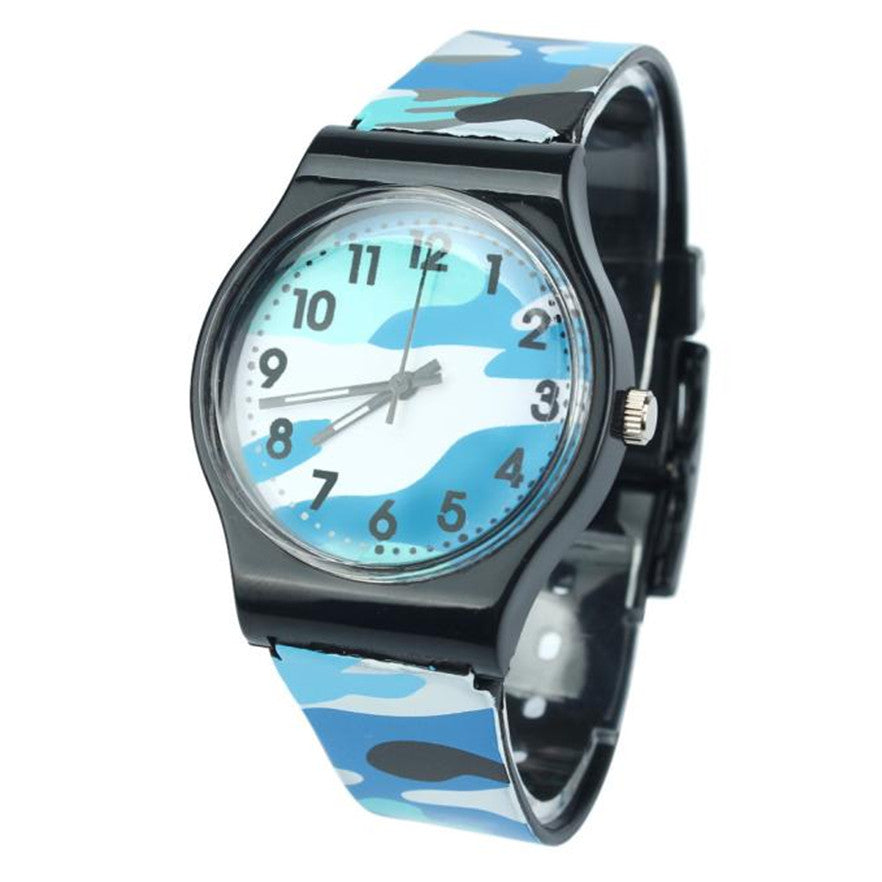 OTOKY Camouflage Children silicone band Watch Quartz Wristwatch relogio For Kids Girl Boy #40 Gift 1pc