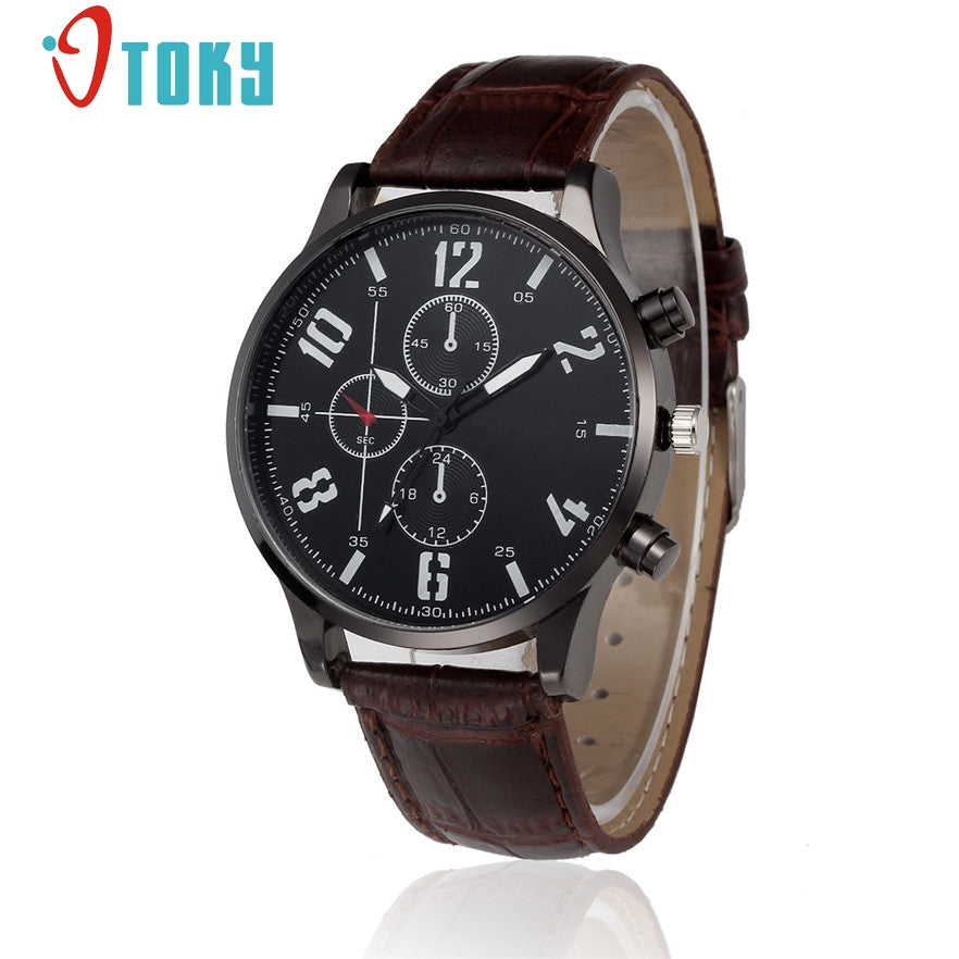 OTOKY Luxury Quartz Watch Casual Fashion Leather Watches geneva Men Clock Sports Wristwatch #40 Gift 1pc