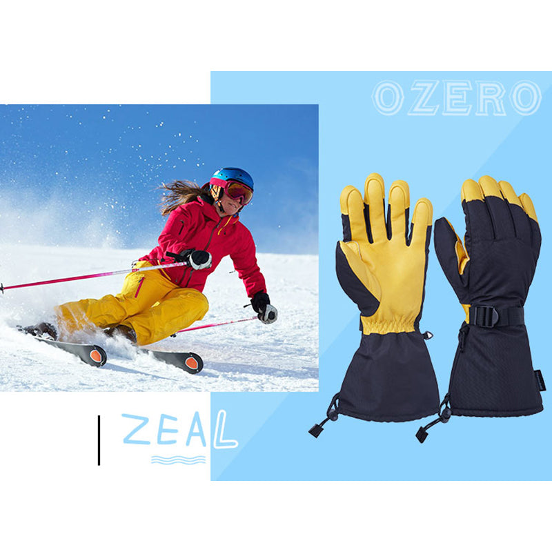OZERO Winter Ski Skiing Gloves Snowboard Snowmobile Motorcycle Riding 3M Sports Windproof Waterproof Warm Gloves For Men's Woman