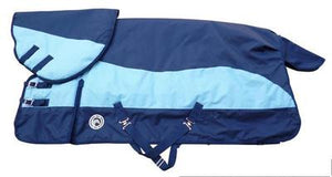 Outdoor Horse Racing Cloth Winter Water-Proof Warm Horse Rugs Blue Detachable Horse Harness