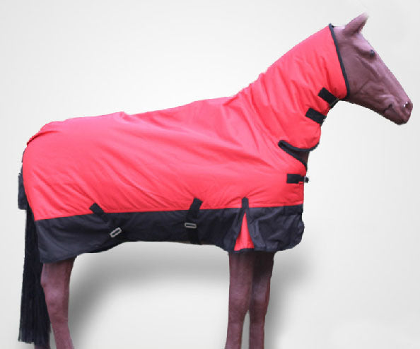 Outdoor Horse Racing Clothes Winter Rain-Proof Warm Horse Rugs Wind-Proof Red Removable Horse Harness