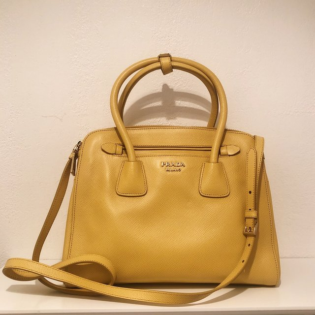 💛💛 YELLOW PRADA TOTE BAG 💛💛