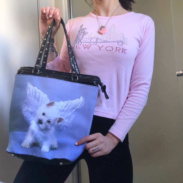 adorable angel puppy bag 🦋