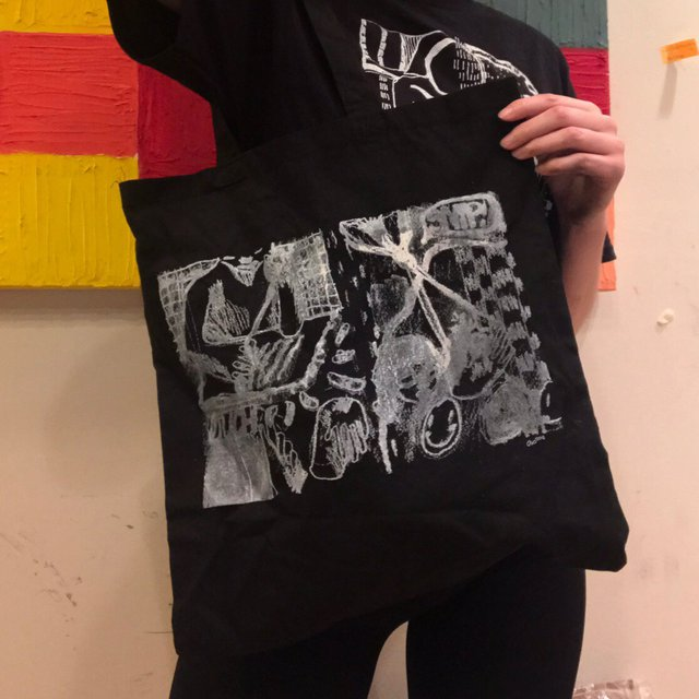Misprint sewing tote/ deducted price 🔥🔥🔥🔥 #totebag #purse #depopusa #purse #bag #handbag #print #handmade #accessory #discount #sale #sewing #embroidery #tote #black #handbag #print #backpack