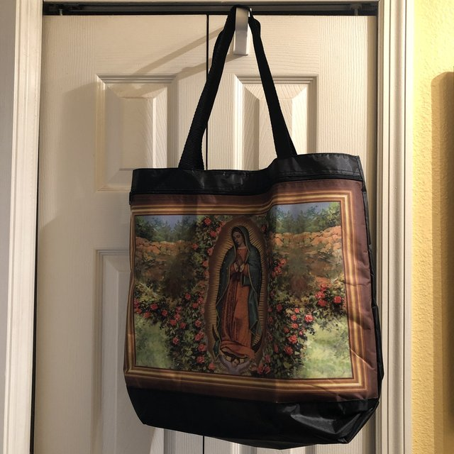 Unique Virgin Mary Tote bag.