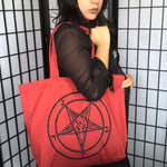 Big baphomet tote bag.
