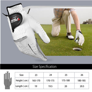 PGM golf luva gants de golf left hand Genuine Leather Sheepskin Men Golf Gloves Soft Breathable Slip-resistant gloves Golf Sport