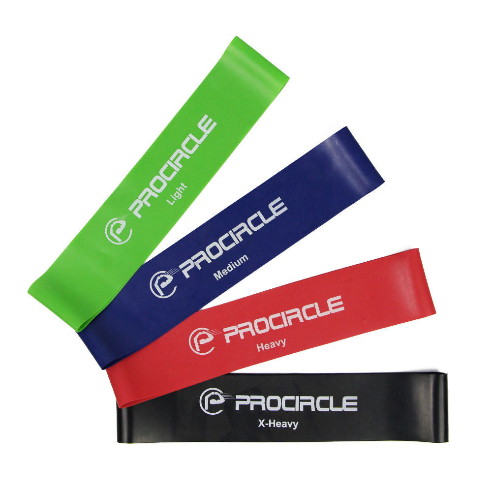PROCIRCLE 4PCS Resistance Loop Bands Rubber Exercise Band Yoga Strength Training