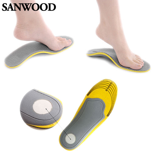 Pair 3D Premium Comfortable Orthotic Shoes Insoles Inserts High Arch Support Pad for women men 01XM 4ONI
