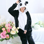 Panda Onesie Cute Totoro Unisex Flannel Hoodie Pajamas For Men Women Animal Winter Animal Sleepwear Adult Cartoon Anime Pijama
