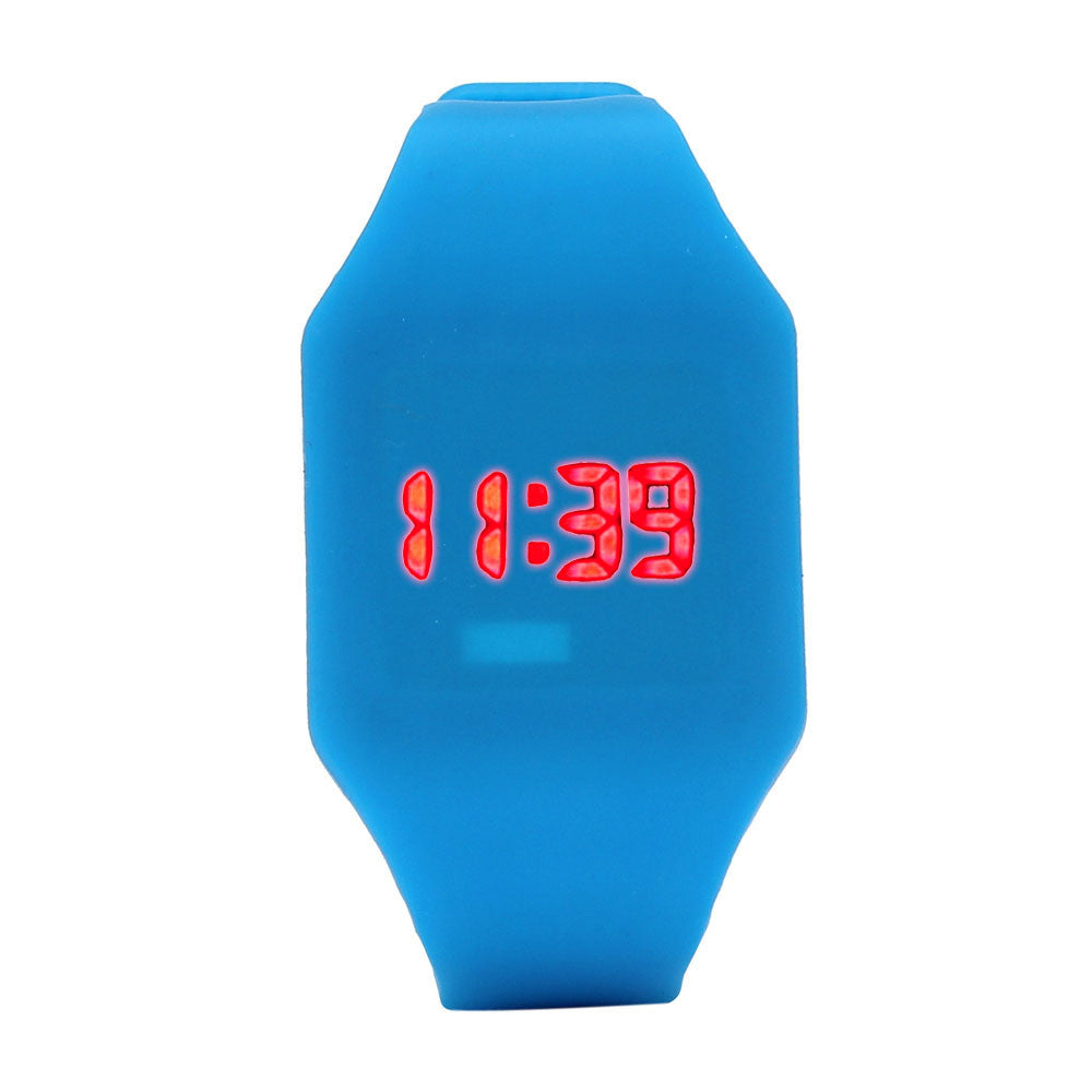 Perfect Gift Mens Womens Silicone LED Watch Sports Bracelet Digital Wrist WatchBlue Levert Dropship Mar01