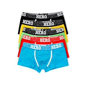 Pink Hero Famous Brand Cotton Men's Boxer Sex Underwear Classic Fashion Underpant Panties Cueca Shorts Man Bulge Pouch Plus Size