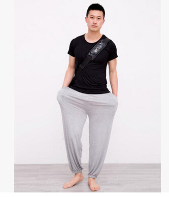 Plus size pajama bottoms bloomers 2017 summer autumn men women loose sleepwear modal lounge pants