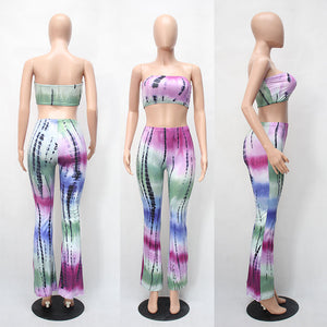 Printed Rompers Womens Two Piece Bodycon Jumpsuits 2017 Summer Long Pants Wide Legs Club Wear Bodysuit Women Jumpsuit 13 colors