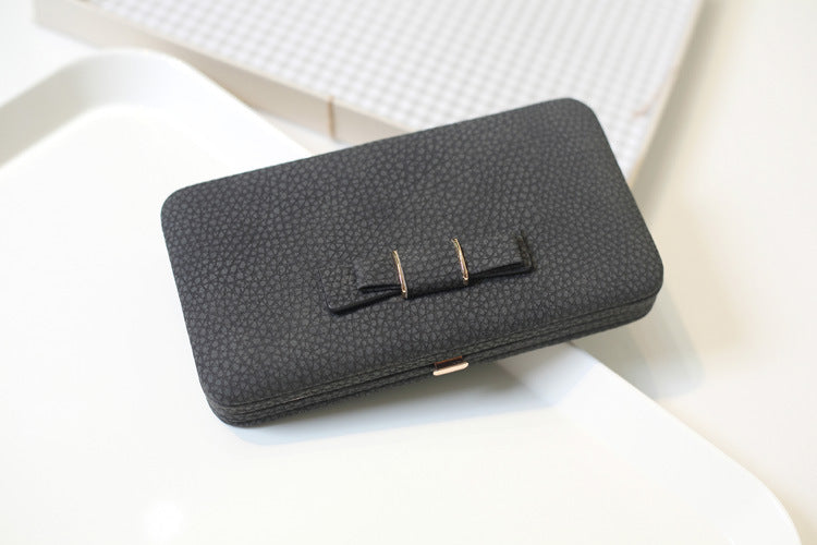 Purse bow wallet female famous brand card holders cellphone pocket gifts for women money bag clutch 505
