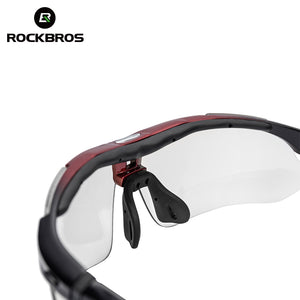 ROCKBROS Polarized Sports Men Sunglasses Road Cycling Glasses Mountain Bike Bicycle Riding Protection Goggles Eyewear 5 Lens