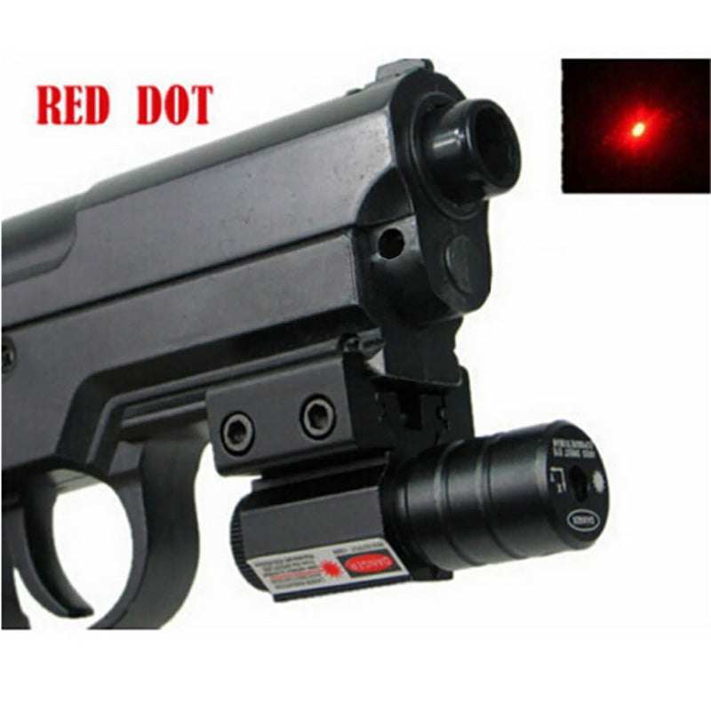 Red Dot Laser Sight 50-100 Meters Range 635-655nm Pistol Adjust 11mm And 20mm Picatinny Rail HuntIing