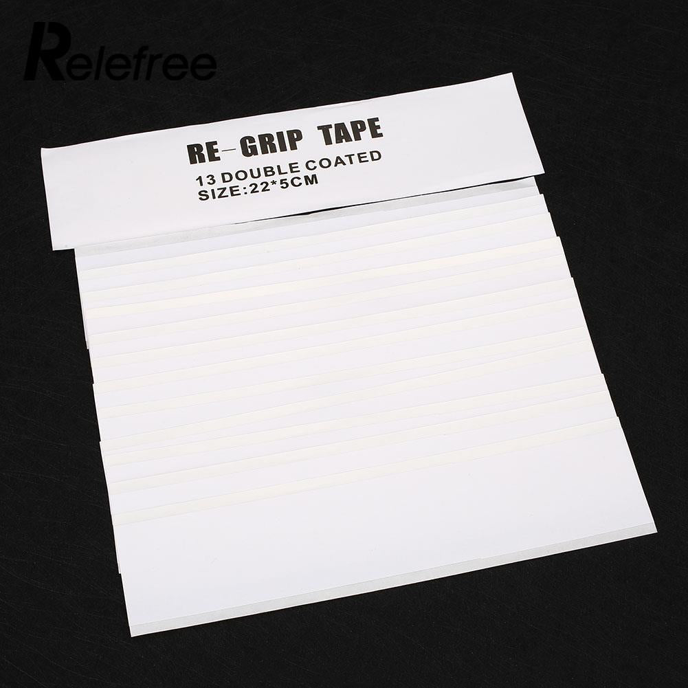 Relefree 13Pcs Double Sided Club Tape Strips Strong Adhesiveness For Golf Grip Set