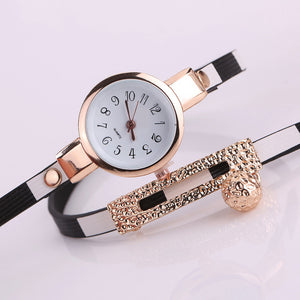 Relogio Feminino Woman Watches 2017 Brand Luxury Watch PU Leather Bracelet Quartz Dress Clock montre femme marque de luxe