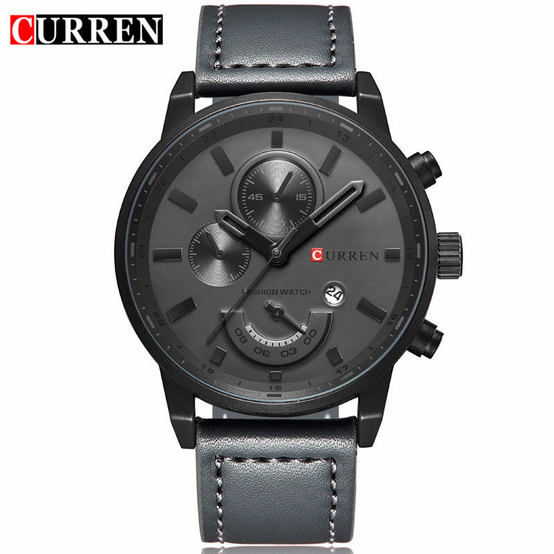 Relogio Masculino Curren Quartz Watch Men 2017 Top Brand Luxury Leather Mens Watches Fashion Casual Sport Clock Men Wristwatches