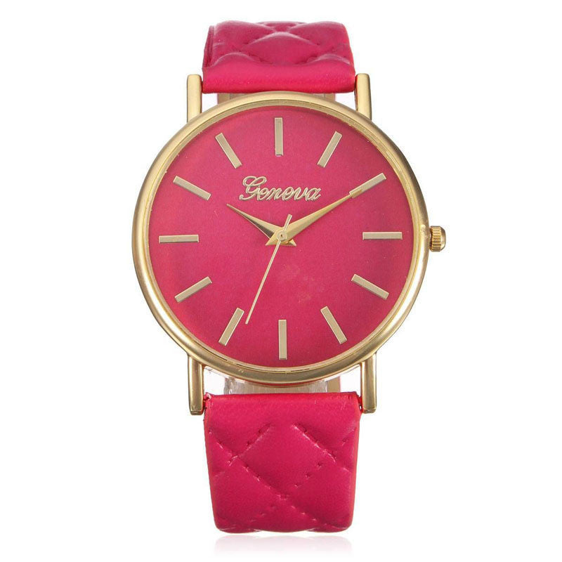 Relojes Mujer 2017 Fashion Women Casual Geneva Roman Leather Band Analog Quartz Wrist Watch Hot Sale Bayan Saat Relogio Feminino