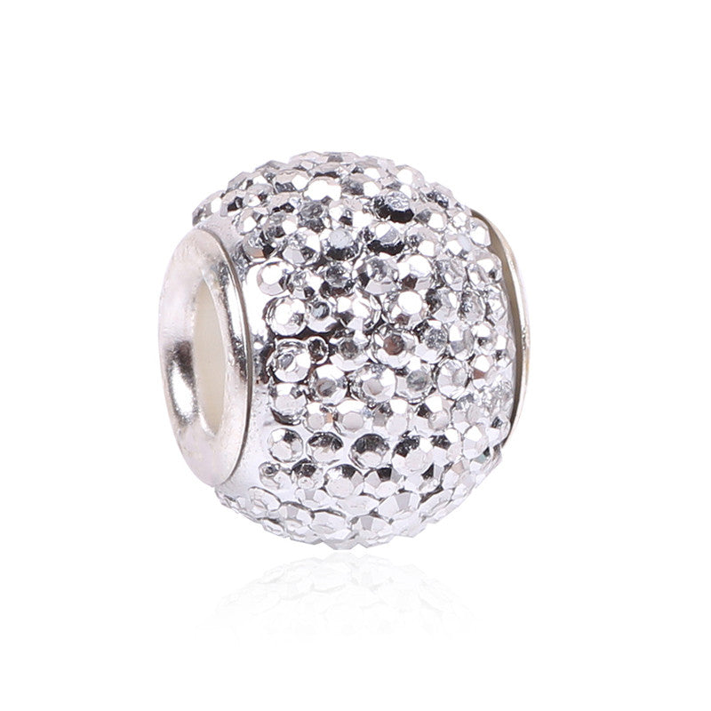 Retail Fashion White Glass Beads Charms Fit Pandora Charms Bracelets & Necklaces For DIY Women Jewerly