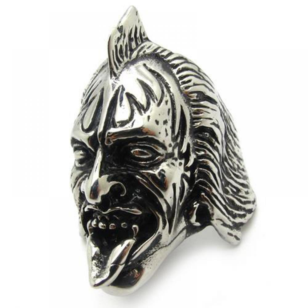 Rock Band The Demon Gene Simmons Silver Stainless Steel Men's Ring Party Gift