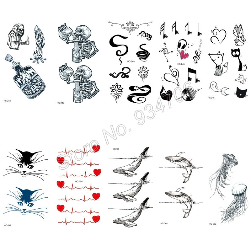 Rocooart 10pcs Sexy Tattoo Stickers Body Art Harajuku Fake Tattoo Waterproof Temporary Tattoo Stickers Men Women Letter Believe