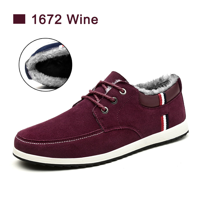 SUROM Autumn Winter Men's Casual Shoes Moccasins Leather Suede Krasovki Men Loafers Summer Luxury Brand Fashion Male Boat Shoes
