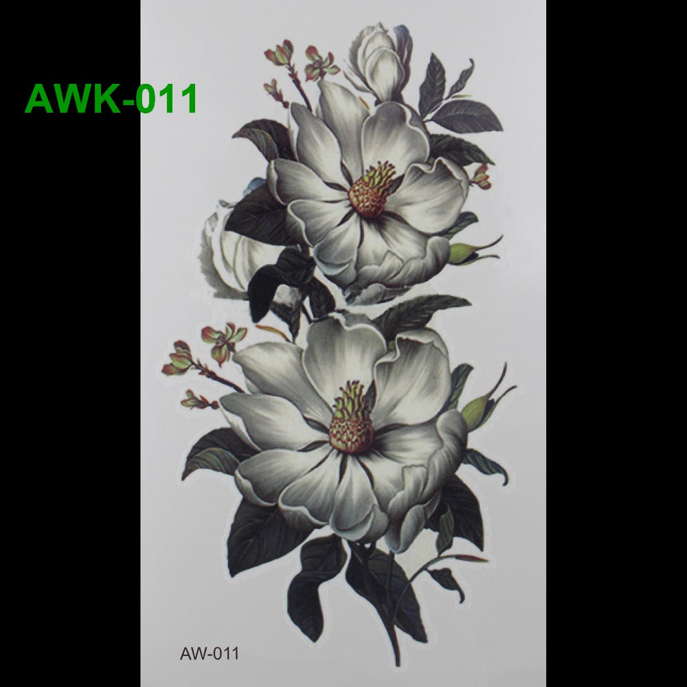 Scar DIY Temporary Tatoo Flowers ROSE TATTOO 3D Dazzle Colour Waterproof Body Art Tatto Hot Flashes Temporary Tattoos