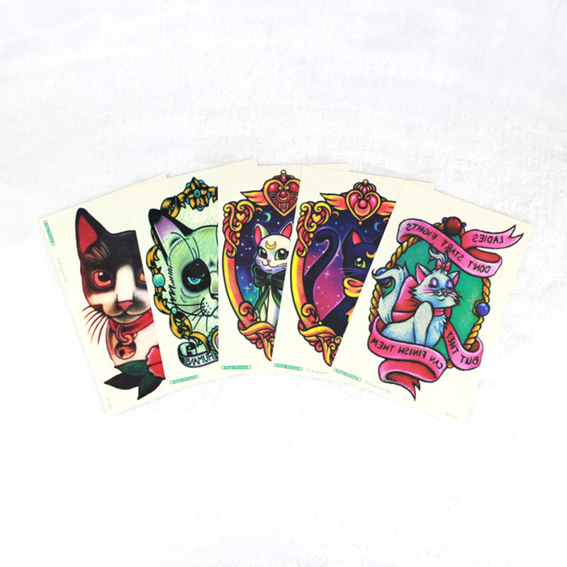 Sexy Lovely Cute Cats Waterproof Temporary Tattoo Body Art Arm Flash Tattoo 19*12cm Fake Henna Painless Tattoo Stickers