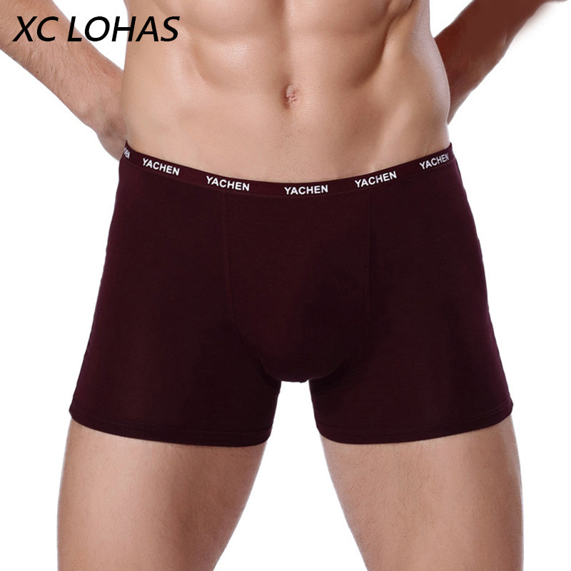 Sexy Men Boxer Soft Breathable Underwear Male Comfortable Solid Panties Underpants Cueca Boxershorts Homme For Men
