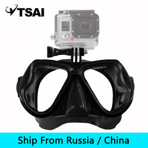 (Ship From Russia / China) Adult Scuba Snorkel Diving Mask Swimming Goggles Underwater Scuba Snorkeling for GoPro Sport Camera