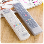 Silicone TV Remote Control Cover Air Condition Control Case Waterproof Dust Protective Storage Bag Organizer 3 colors for choice