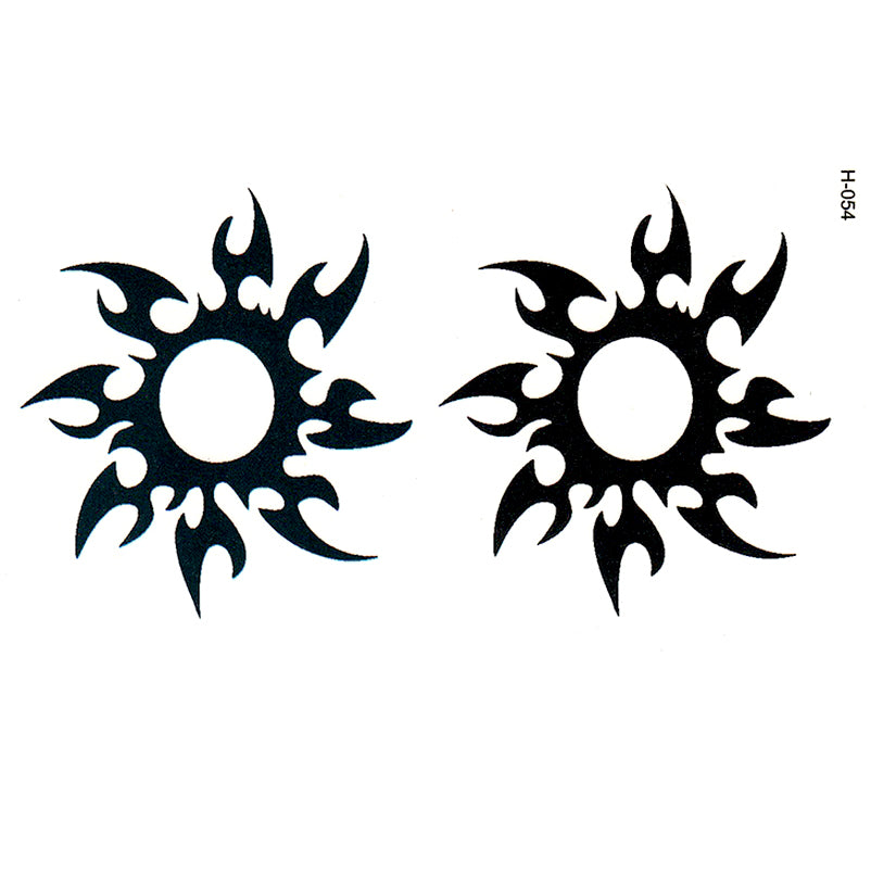 Simulation sun totem men and women waterproof tattoo stickers fashion tattoos painted pattern wholesale disposable cover scars