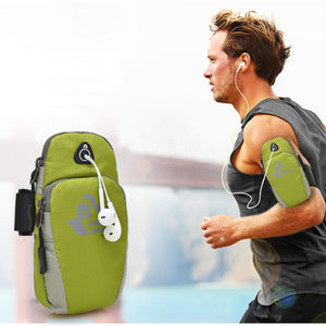 Sports Arm Bag Running Jogging Gym Armband Bag Case Cover Holder With Music Headset Hole-Fits Outdoor Fanny Cellphone Packs