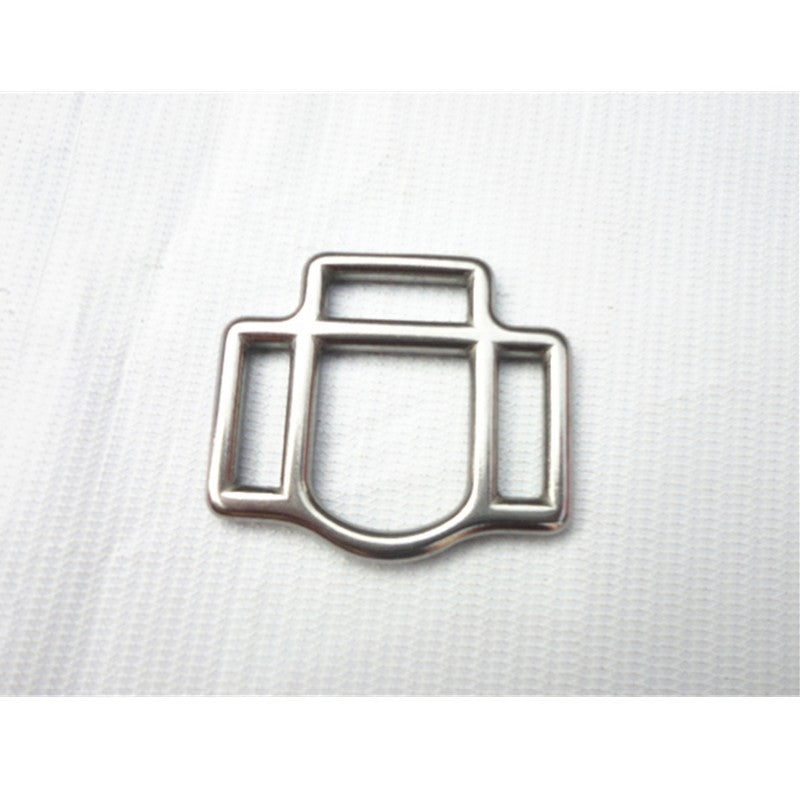 Stainless Steel Bridle Fittings 20mm Buckle With 3 Slots Horse Halter Fitting Bridle Buckle Saddlery Buckle P011