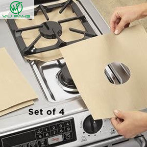 Stovetop Reusable Aluminum Foil Gas Stove Protectors Cover/Liner Reusable Non Stick Silicone Dishwasher Safe kitchen supplies