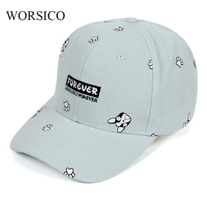 Summer Baseball Cap Women 2017 Dog Pattern Cute Snapback Hip Hop Caps Hats For Women Brand Autumn Adjustable Hat Bone Gorras