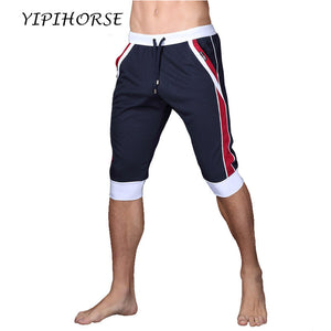 Summer leisure Sporting shorts men trousers elastic brand men shorts Gyms mens fashion quick dry outer wear trousers at home