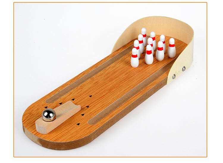 Suzakoo Indoor Mini Desktop Wooden bowling Adult and children's table grounder