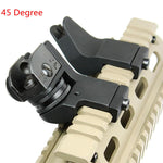 TRUE ADVENTURE Tactical Hunting Flip Up Front Rear 45 Degree Adjustable Rapid Transition Backup Iron Sight Set shooting Hot sale