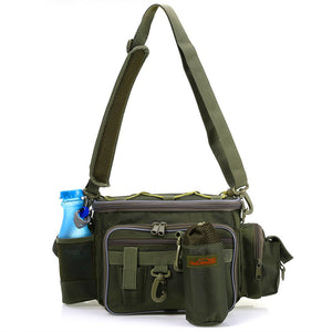 TSURINOYA Multifunction fishing bag Lure bag Waist Pack Pouch Pole Package Fish Tackle Bag